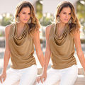 Fashion Women Summer Tops Sleeveless Chiffon Blouse Casual Shirt Blouse