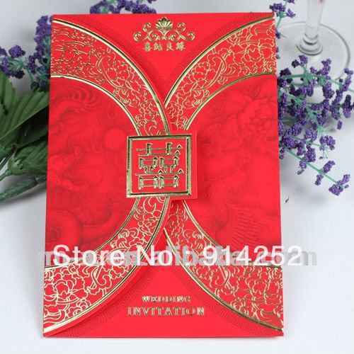 Tc047 Traditional Chinese Wedding Invitation Card Models On