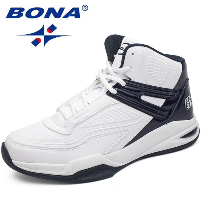 Nueva llegada de BONA, zapatos de baloncesto de estilo Popular para hombre, zapatillas de deporte para correr al aire libre, zapatos deportivos para hombre, suaves y ligeros envío gratis