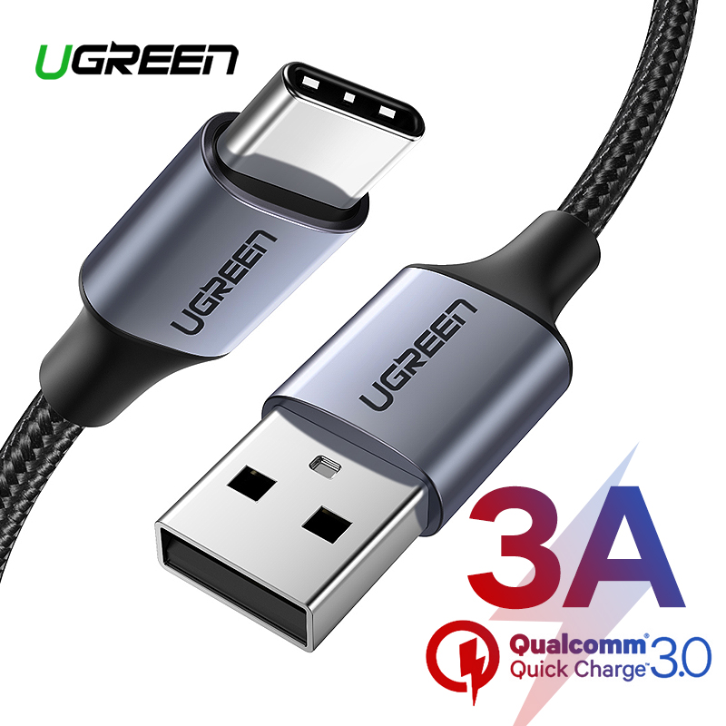 Ugreen USB Type C Cable USB C Fast Charging Data Cable For Samsung Galaxy S9 S8 Plus Mobile Phone Charger Cable For Xiaomi Mi 8(China)