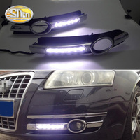 For Audi A6 C6 2005 2006 2007 2008 No error Daytime Running Light LED DRL fog lamp Driving Lamp