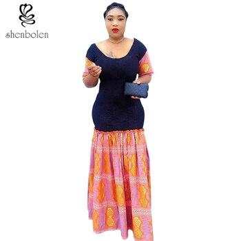 2016 autumn African dresses for women ankara clothes Party Dresses kitting stitching Batik sexy mermaid dress Fishtail dress