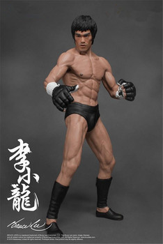 19cm Bruce Lee Fighting Version Action Figure Collection Model Toys