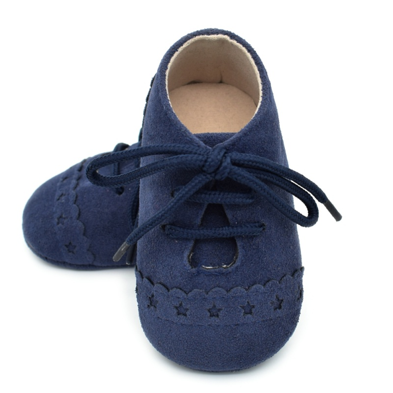 Infant Baby Girls Boys Spring Lace Up Soft Leather Shoes Toddler Sneaker Non-slip Shoes Casual Prewalker Baby Shoes 14