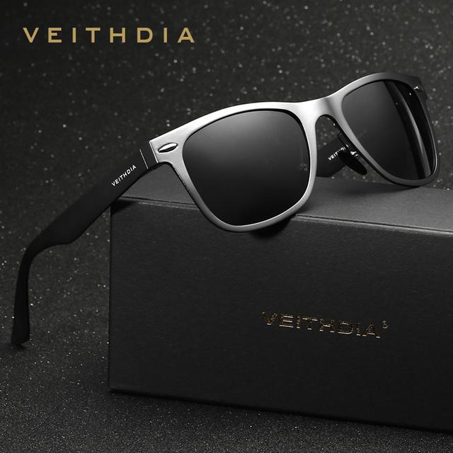 VEITHDIA Brand Designer Classic Designer Men Polarized Lens Women Sunglasses Square Sun Glasses Eyeglasses oculos de sol For Men