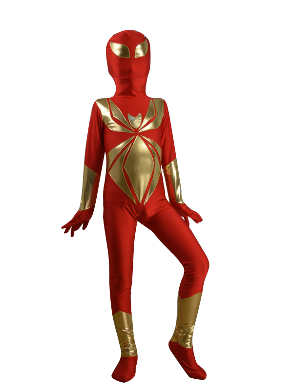 Kids Iron Spiderman Costume Spandex Superhero Spiderman Cosplay Costume Spandex Zentai Bodysuit for Children