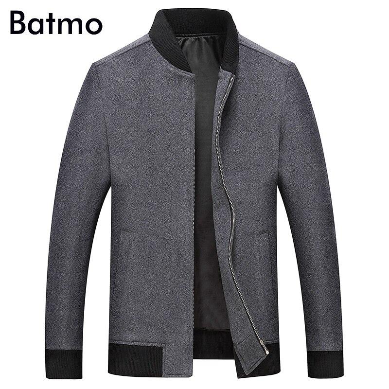 BATMO 2019 新着秋 & 冬高品質ウールジャケット男性、冬のコート、男性のジャケット MN2018  グループ上の メンズ服 からの ウール混紡 の中 1