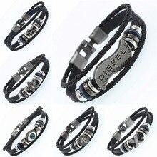 Eye Multilayer Bracelet Men Casual Fashion Braided Leather B