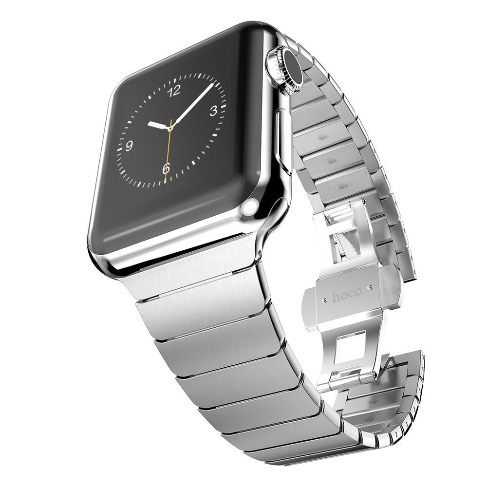 Prix pour Luxe bracelet en métal sangles Pour Apple bande de montre 42mm en acier inoxydable Lien bracelet 38mm papillon boucle noir or argent