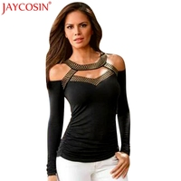 JAYCOSIN T Shirts T Shirt Women Christmas Sexy Fashion Long Sleeve Off Shoulder Women Top Fun