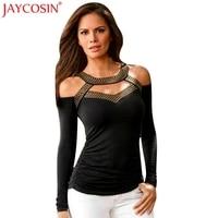 JAYCOSIN T Shirts T Shirt Women Christmas Sexy Fashion Long Sleeve Off Shoulder Women Top Fun