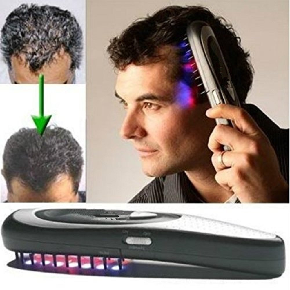 1 pc Laser comb massagem massageador  hair growth  health care comb hot product 2016 hot sale hair care hair loss treatment lllt laser therapeutic comb for hair growth