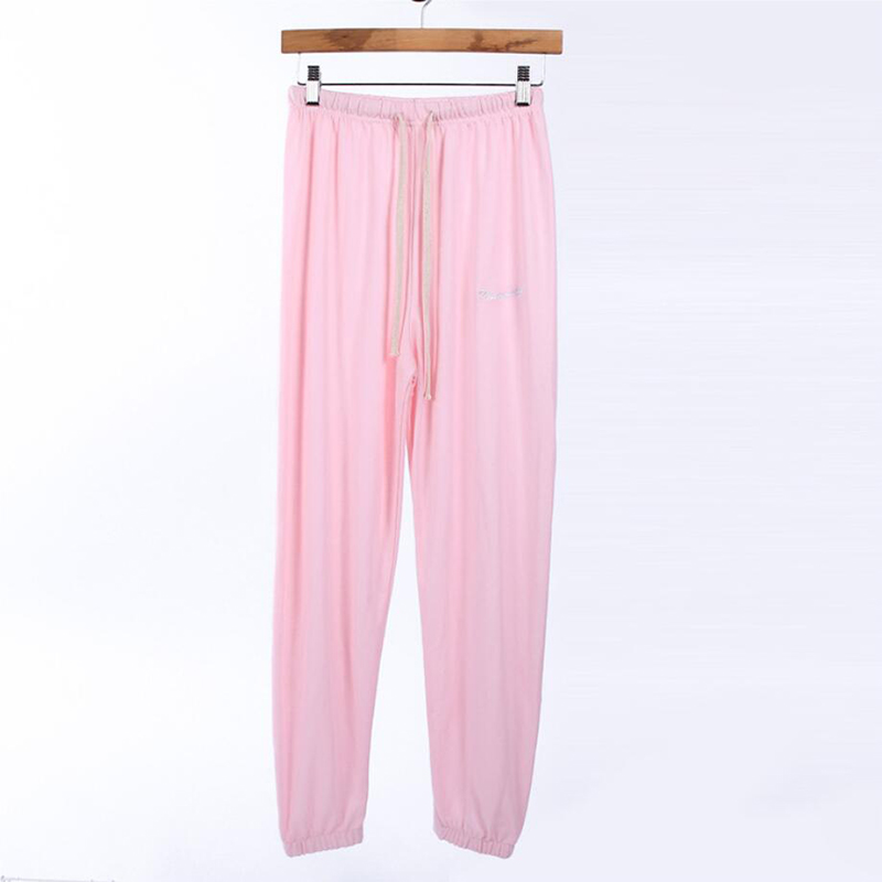 Spring And Summer Sports Thin Section Breathable Cotton Embroidery Lace Solid Color Fairy Home Nine Pants Free Shipping