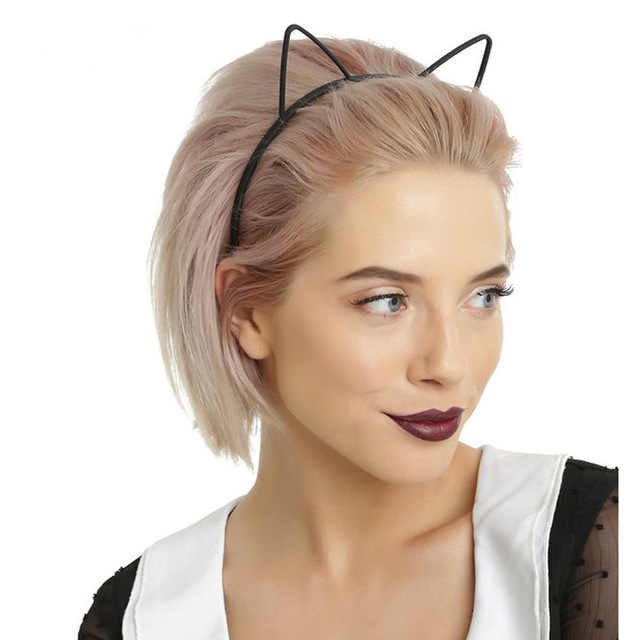 2PCSแมวแมวหูแฟชั่นเลดี้สาวหัววงผมเซ็กซี่Selfเด็กวันเกิดอุปกรณ์เสริมผมสำหรับผู้หญิงHoop