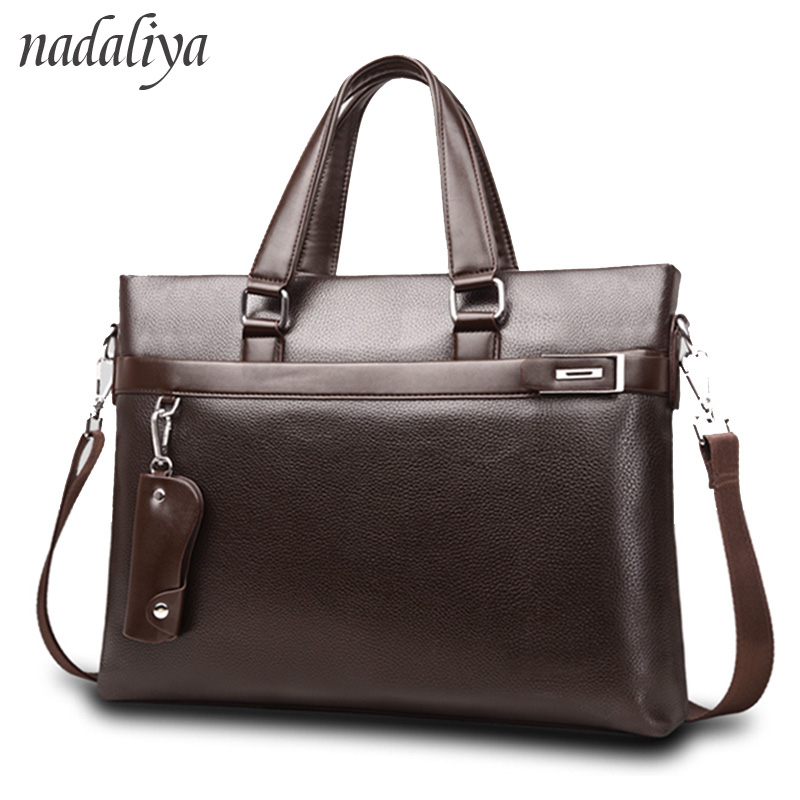 Top Sell Fashion solid Famous Brand Business Men Briefcase Bag Leather Laptop Bag Casual Man Bag Shoulder bags bolso hombreTop Sell Fashion solid Famous Brand Business Men Briefcase Bag Leather Laptop Bag Casual Man Bag Shoulder bags bolso hombre