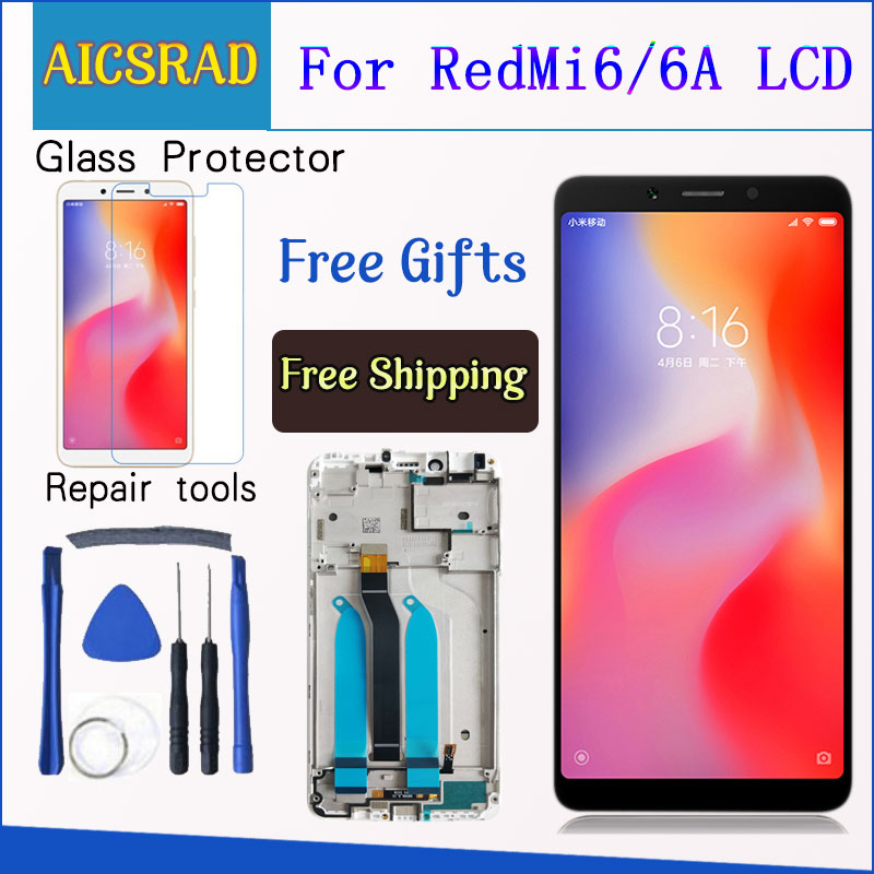 100 Tested LCD display For Xiaomi Redmi 6A 5 45 inch touch screen digitizer assembly For Innrech Market.com