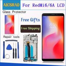 شاشة عرض LCD مختبرة 100% لشاومي ريدمي 6A شاشة لمس 5.45 بوصة مجمع محول رقمي لريدمي 6 مع إطار شحن مجاني