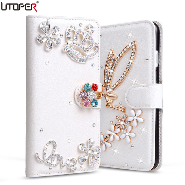 i9300 Wallet Stand Flip PU Leather Diamond Case For Samsung Galaxy S3 Neo S III i9300 Duos GT-i9300 Cover Rhinestone Phone Bags