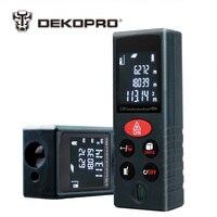 DEKOPRO LRD110 Handheld Laser Distance Meter 40M 60M 80M 100M Mini Laser Rangefinder Laser Tape Range