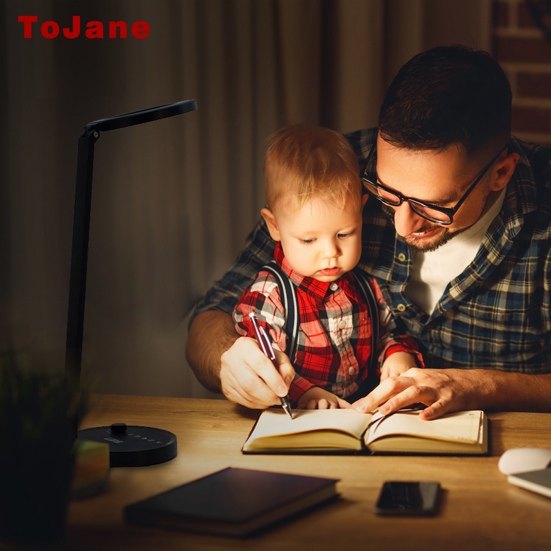 ToJane Desk Lamps CCC Led Desk Lamp Led Bulbs Table Lamp Desktop Folding Table Lamp 4 Lighting Modes and 12 Level Dimming TG2526 dimmable touch sensor powerful led desk lamp eye protection 5 level dimmer 4 lighting modes table lamp lamparas led r25