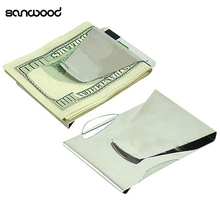 Stainless Steel ID Credit Card Holder Wallet Double Sided Change Money Clip стоимость