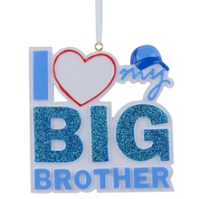 I Love my Big Brother Sister Polyresin Glitter Christmas Tree Ornament Personalized Gifts For Party Holiday Home Decoration блюдо декоративное home philosophy 28 см i love my home 402171