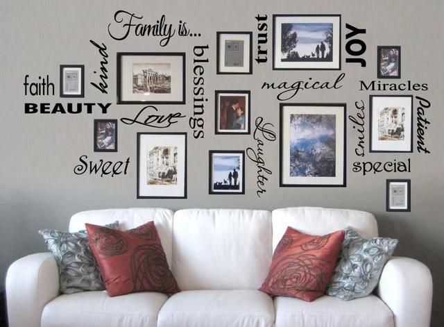 Unique Custom Wall Decals Infinity Sign Heart Family Names Home Sticker Bedroom Vinyl Art Decor