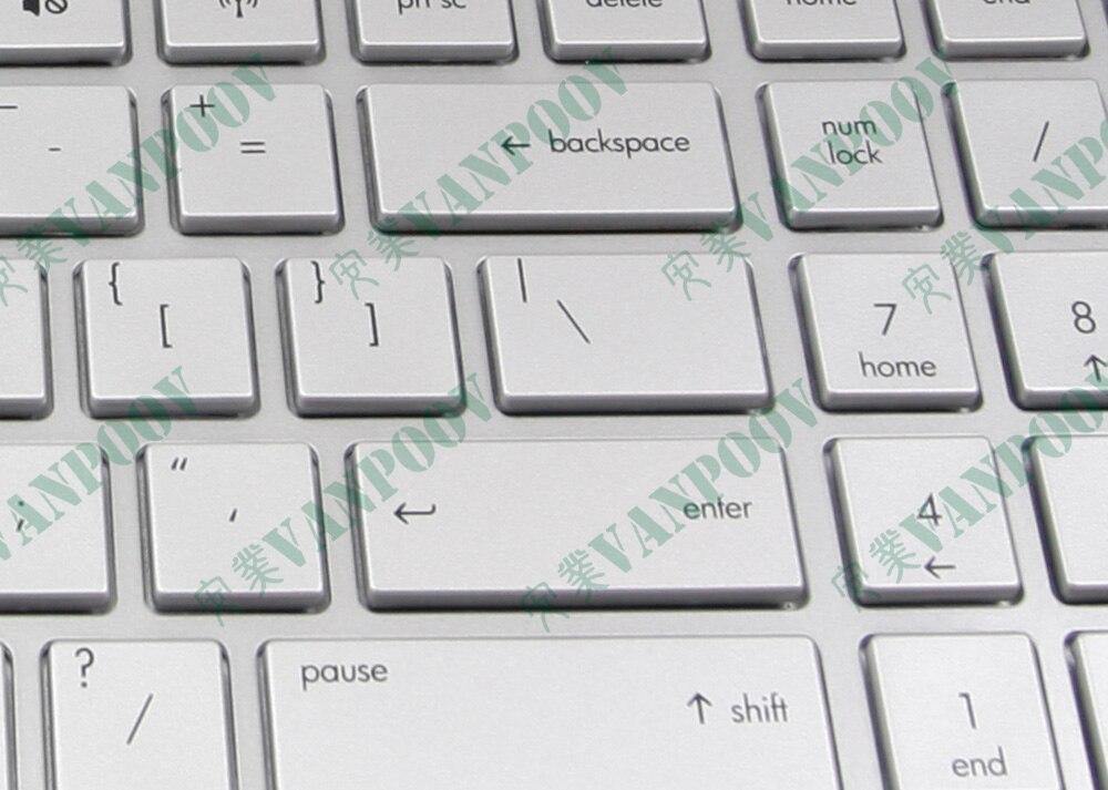 Подлинная Новая Клавиатура ноутбука США для hp павильон DV6 DV6-6000-6100-6200-6090 с рамкой серебро 665938-001 640436-001 634139-001