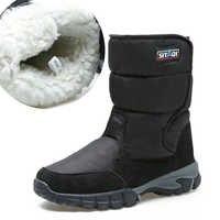 Männer stiefel 2019 winter schuhe verdicken pelz nicht-slip wasserdicht schnee stiefel männer winter stiefel große größe 40- 48