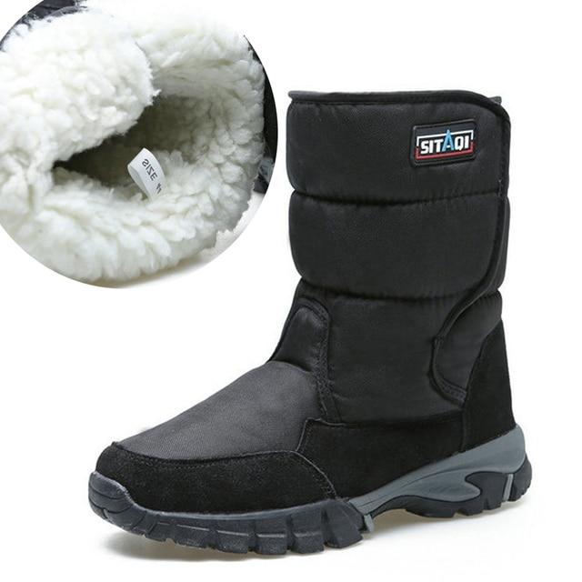 Người đàn ông khởi động mùa đông 2018 giày dày lông không-trượt tuyết không thấm nước khởi động người đàn ông khởi động mùa đông kích thước lớn 40- 48