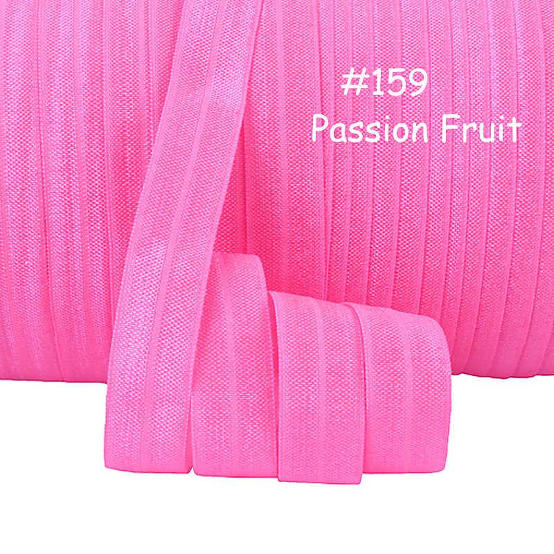 """Flora şeritleri 5/8 """"düz renk elastik fazla fold ÇARKIFELEK MEYVESİ renkli"""