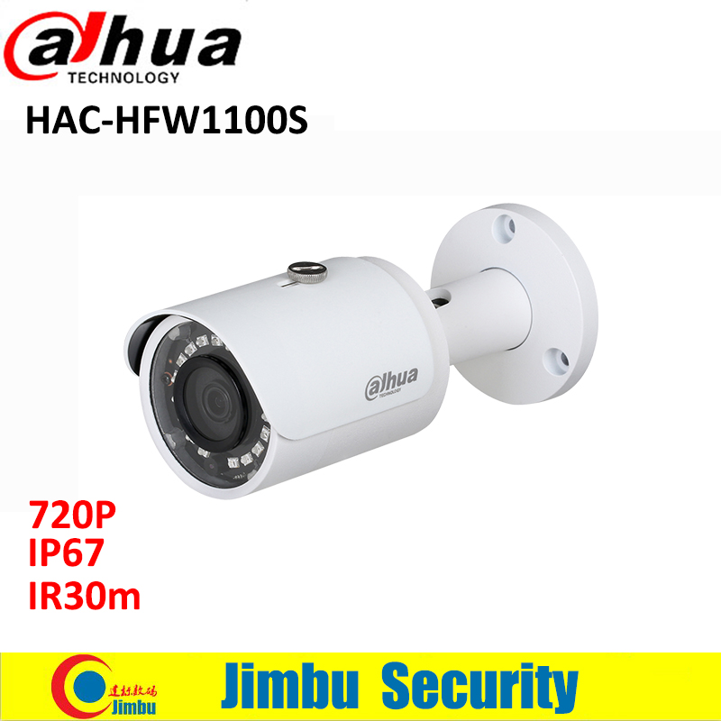Dahua HDCVI Bullet Camera HAC-HFW1100S 720P metal body security camera 1Megapixel Water-proof IR30m IP67 dahua hdcvi 1080p bullet camera 1 2 72megapixel cmos 1080p ir 80m ip67 hac hfw1200d security camera dh hac hfw1200d camera