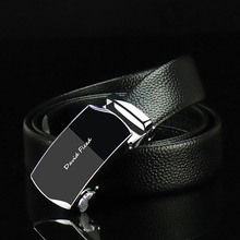 The first layer of leather new simple luxury brand mens business quality belt high automatic buckle