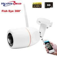 Рыбий глаз Wifi ip-камера 1080 P открытый 2MP беспроводная камера безопасности Full HD 2MP SD слот CCTV камера видеонаблюдения панорамный вид