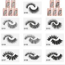 1 Box Mink eyelashes Natural Long False Eyelashes