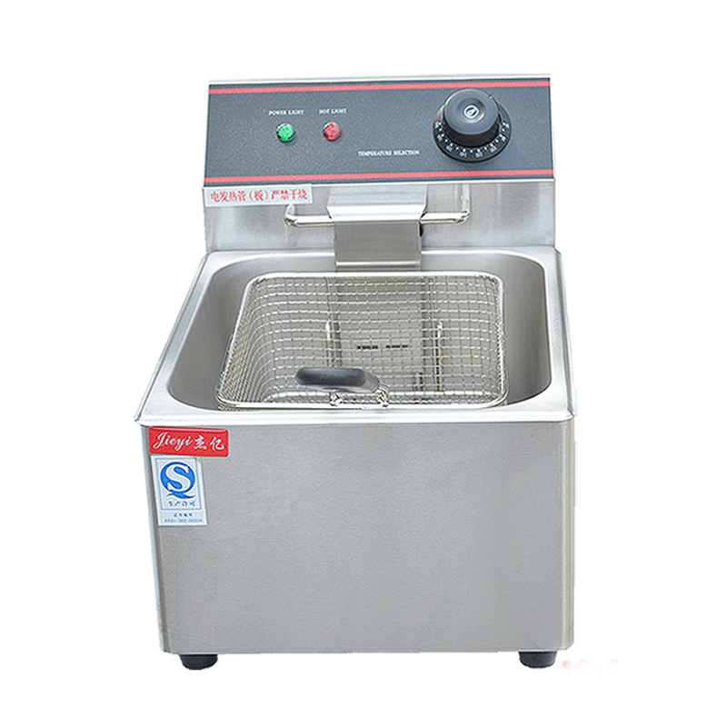 110V 220V Electric Stainless Steel Deep Fryer Commercial Fried Chicken Frying Pan Grill Frying French fries machine пуф french fries
