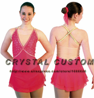 Red Ice Figure Skating Dresses For Girls Fashion New Brand Competition Skating Clothing DR3357