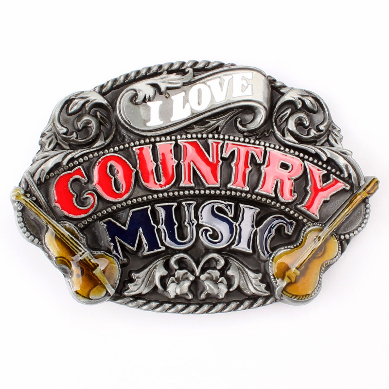 Country Music Belt Buckle Smooth Buckle Fashion And Personality