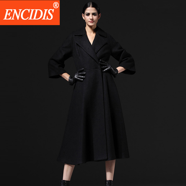 2016 Новая Мода Леди Пальто Зимой и Осенью Пальто Женщин Пальто Длинный Ветровка Пояса Тонкий Верхняя Одежда F133