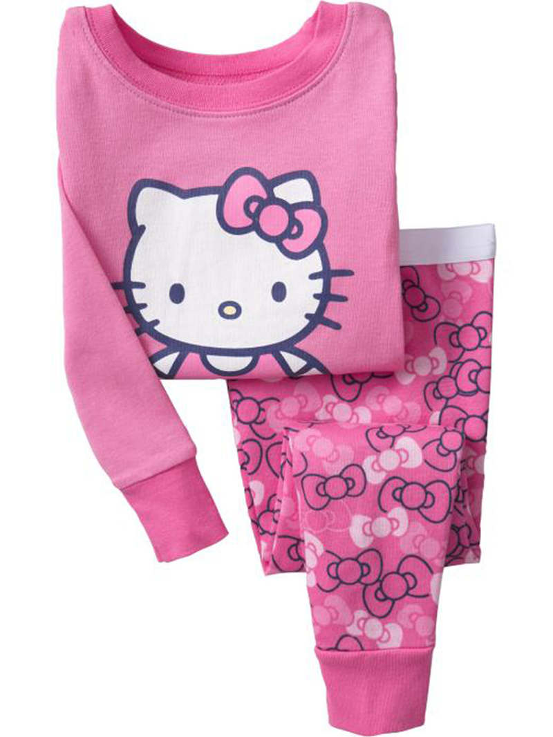 b581f0c82 Online Shop Baby Children Girls Cartoon Cats Sleepwears Kids ...