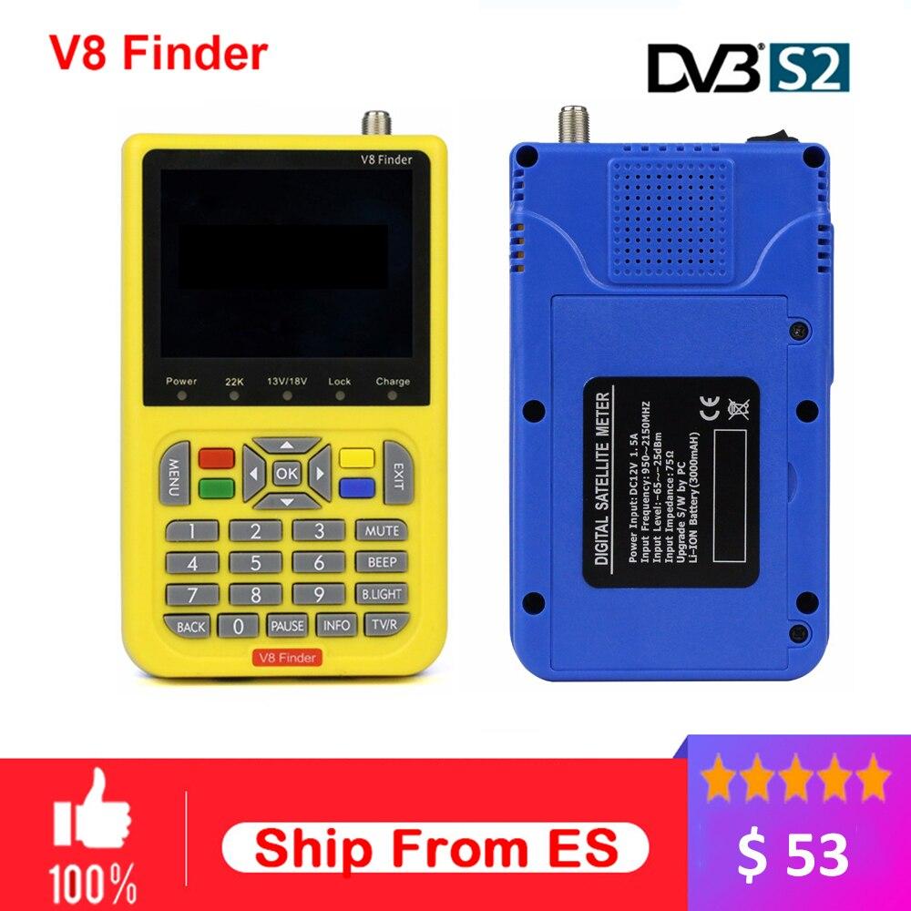 Спутникового сигнала finder V8 finder поиск метр V8 finder для DVB-S/S2 с 3,5 дюймов ЖК-дисплей Цвет Экран спутниковый декодер Finder