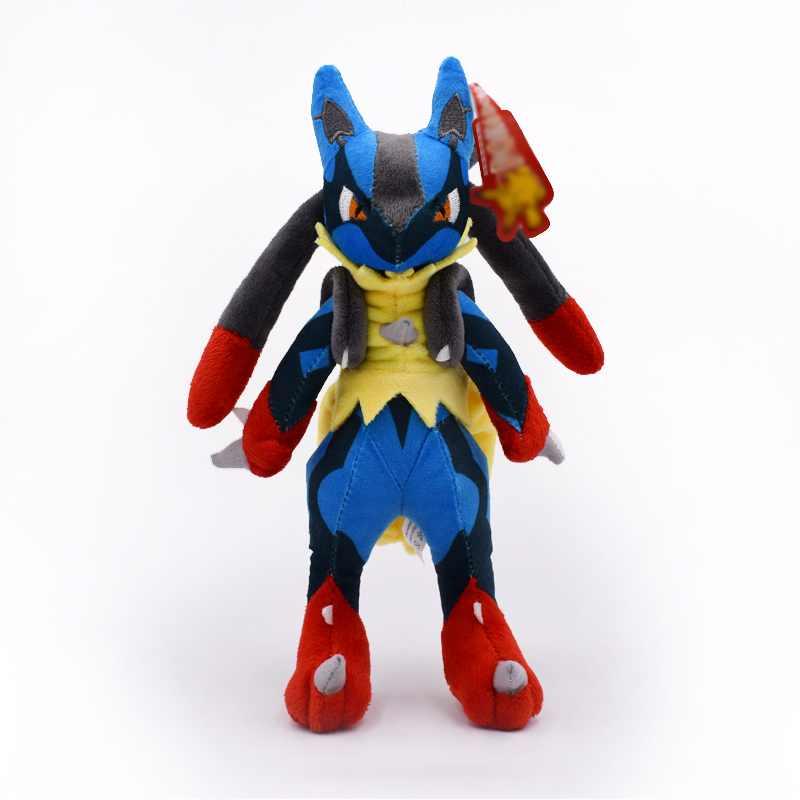 28cm Doll Center Mega Lucario X&Y Stuffed Plush Toys Soft Doll For Children High Quality Free Shipping маркер флуоресцентный centropen 8722 1о оранжевый 8722 1о