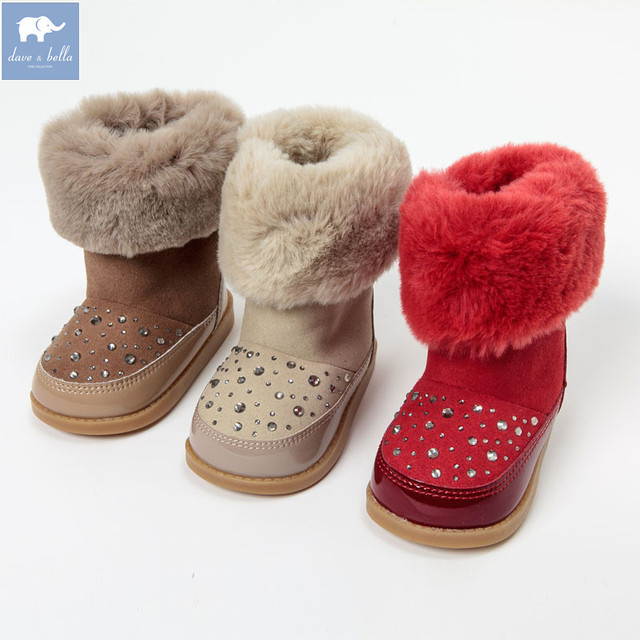 a6d89151b DB1475 ديف بيلا الخريف الأطفال أحذية الفتيات الأحذية أحذية أطفال طويلة  الرقبة