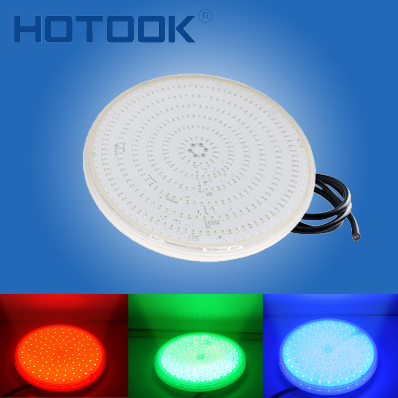 HOTOOK Underwater Lights PAR56 RGB LED Swimming Pool Light Resin Filled Piscina Wall Mounted FocoPool Lamp