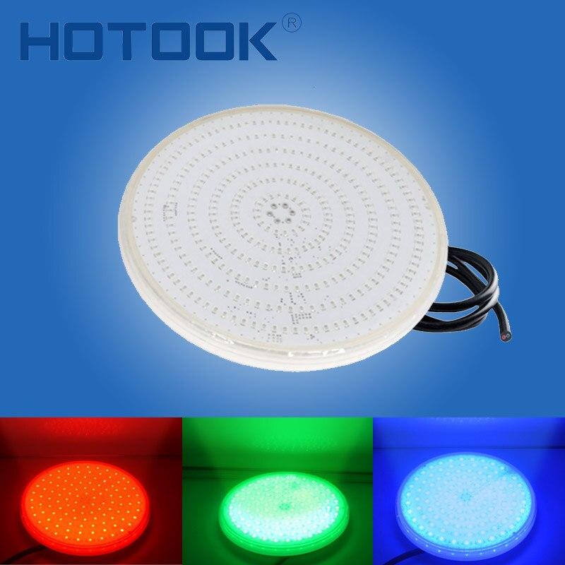 HOTOOK подводные фонари PAR56 RGB светодиодный бассейн свет смолы Fil светодиодный Piscina настенный FocoPool лампы 12 V IP68 18 W 42 W пруд