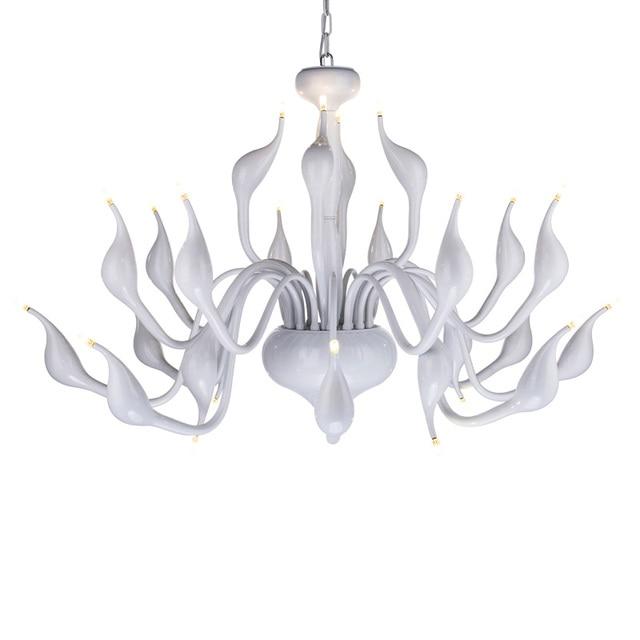 Modern swan 24 head LED Chandelier Light Toolery Art Deco European creative gold black white chrome color body G4 3W LED lamp