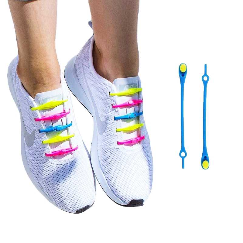 12 PCS ขี้เกียจไม่มี Tie ซิลิโคนรองเท้า Laces Athletic Running Sport Shoelaces เด็กและผู้ใหญ่รองเท้าสำหรับ NMD รองเท้าผ้าใบ