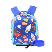 New Disney Cartoon Toddler Anti Lost Backpack Antilost Wrist Link Kids Safety Walking Strap Leashes Bag Schoolbag 2021