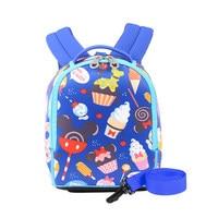 New Disney Cartoon Toddler Anti Lost Backpack Antilost Wrist Link Kids Safety Walking Strap Leashes Bag Schoolbag 2019