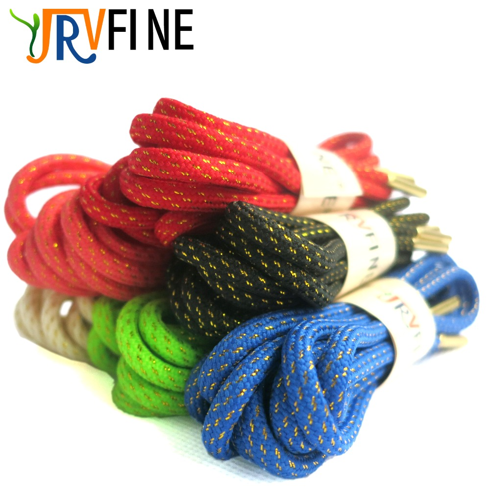 YJRVFINE 1Pair Metallic Simple Sense Shoestrings for Basketball Shoes Rope Shoelaces With Metal Tips Round Rope Laces for Boots sense and sensibility